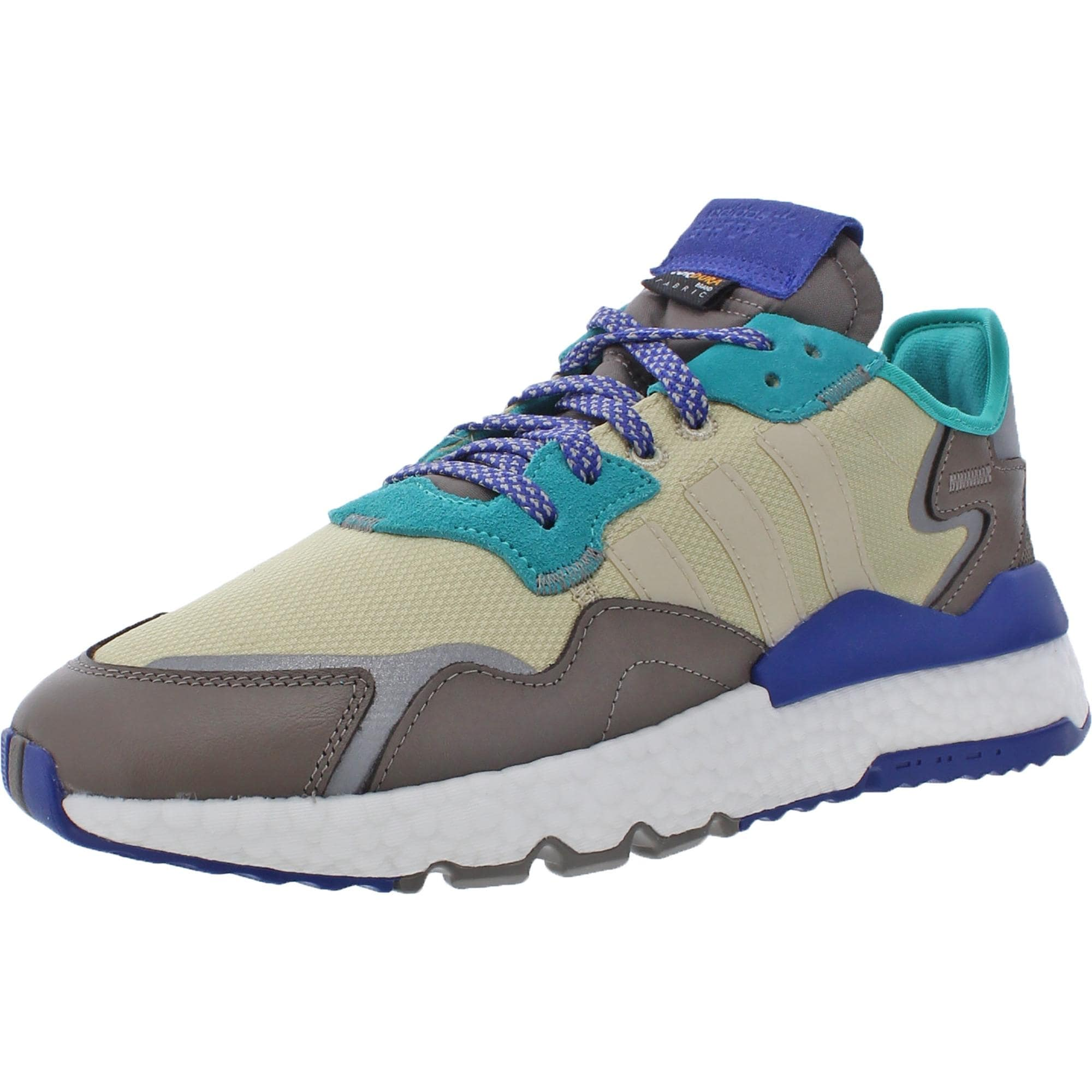 adidas Originals Mens Nite Jogger Running Shoes Knit Fitness - Desert Sand/Simple Brown