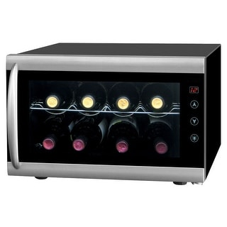 Sunpentown WC-0802H 8 Bottle Thermoelectric Wine Cooler - Black / Silver