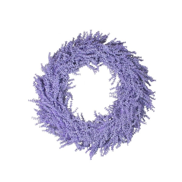 """26"""" Spring Vibrant Purple Artificial Wisteria Inspired Flower Wreath"""