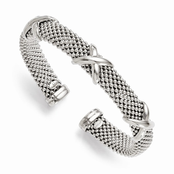 Italian Sterling Silver Polished Flexible Bangle