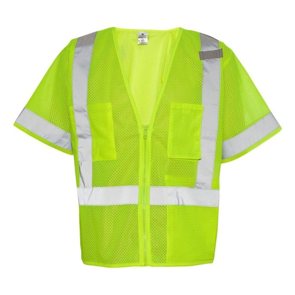 5da55076a29 Shop Lime Class 3 Economy Safety Vest - Free Shipping On Orders Over ...