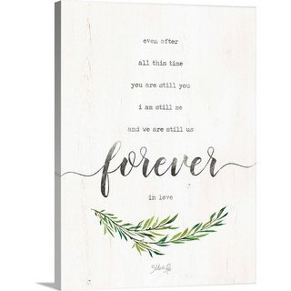 """""""Forever in Love"""" Canvas Wall Art"""