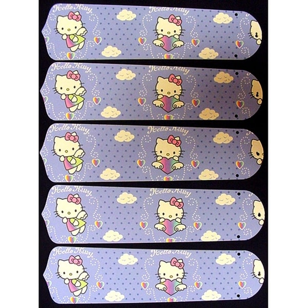 Hello Kitty Custom Designer 52in Ceiling Fan Blades Set - Multi