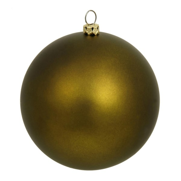 "60ct Matte Olive Green Shatterproof Christmas Ball Ornaments 2.5"" (60mm)"