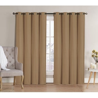Neil Room Darkening 8 Grommet Energy Saving Panel, Taupe, 52x90 Inches