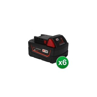 Replacement 4000mAh Battery for Milwaukee 48-11-1840 / M18 XC Model (6 Pk)