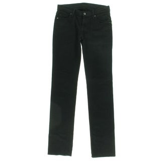 7 For All Mankind Womens Denim Low-Rise Straight Leg Jeans - 28