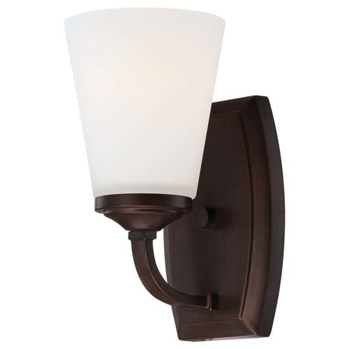 Minka Lavery 6961-284 1 Light Bathroom Sconce from the Overland Park Collection