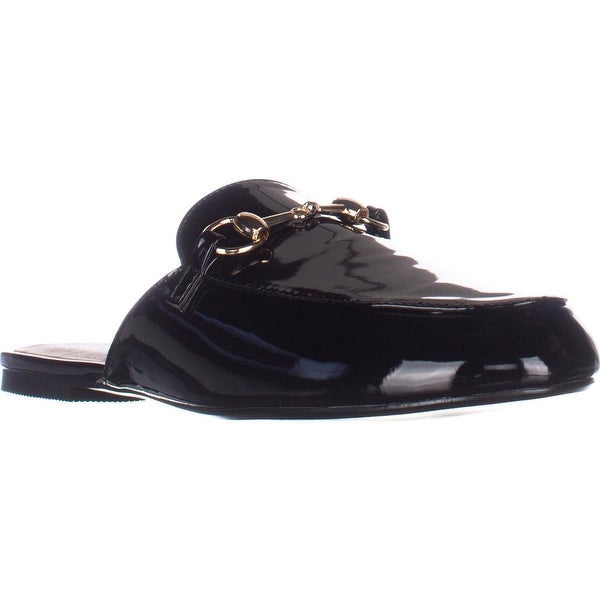 Wanted Bitman Slip On Chain Detailed Flat Loafers, Black