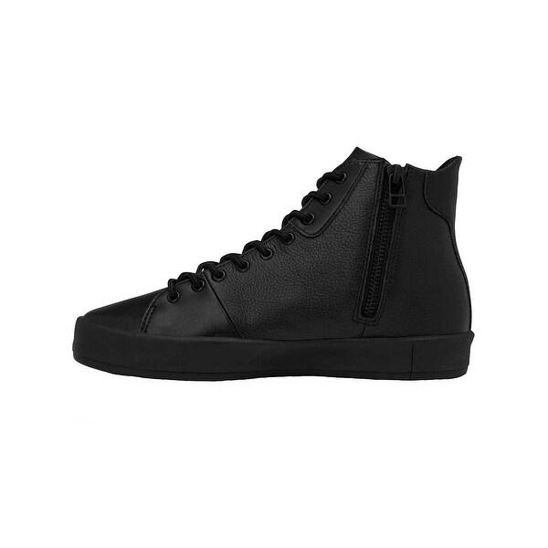 f44bd495198 Shop Creative Recreation Womens Carda Hi Sneakers in Black Leather ...