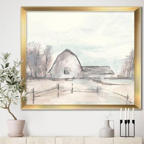 Designart 'Farmhouse Barn Grey VIII' Modern Farmhouse Premium Framed Art Print
