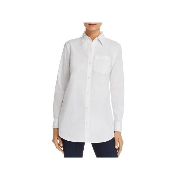 2bdcd570c889 Shop MICHAEL Michael Kors Womens Button-Down Top Floral Embellished ...