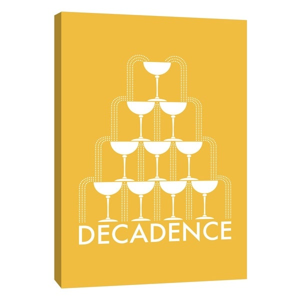 """PTM Images 9-105201 PTM Canvas Collection 10"""" x 8"""" - """"Decadence 2"""" Giclee Liquor & Cocktails Art Print on Canvas"""
