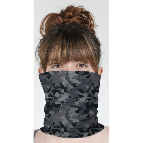 """CAMO FLOW CHARCOAL Neck Gaiter By Kavka Designs - 10"""" x 18"""""""