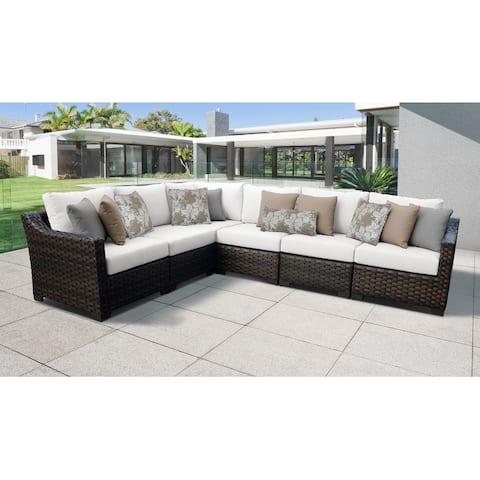 Kathy Ireland River Brook Wicker 6-piece Patio Furniture Set