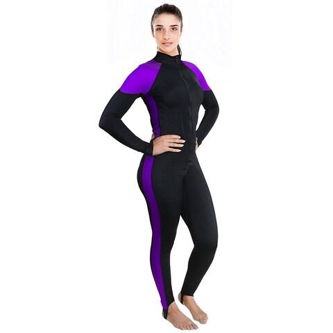 Ivation Women's Wetsuit - Lycra Full Body Diving Suit & Sports Skins (Medium)
