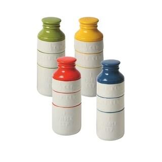 Ceramic Milk Bottle Shaped Measuring Cups BLUE