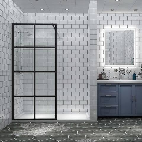 Shower Door Framed Fixed Rectangle Shower Screen