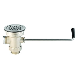 """T and S Brass B-3950  Waste Drain Valve with Twist Handle and 1-1/2"""" Adapter - Rough Chrome"""