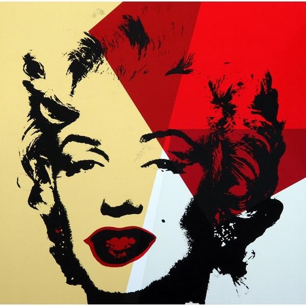 Shop Marilyn Monroe Gold #42 by Andy Warhol Portrait Art Print ...