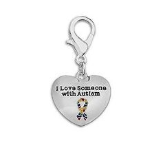"""""""I Love Someone With Autism"""" Hanging Charm"""