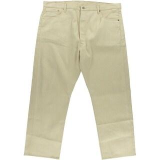 Levi's Mens Shrink-To-Fit Straight Leg White Oak Denim Jeans - 44/30