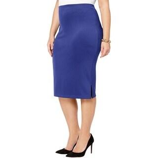 Kasper Womens Plus Pencil Skirt Pull On Knee-Length - 1X