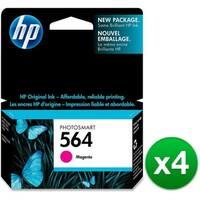 HP 564 Magenta Original Ink Cartridge (CB319WN)(4-Pack)
