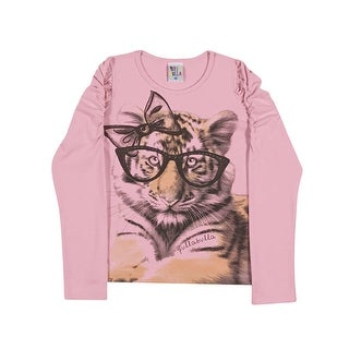 Girls Long Sleeve T-Shirt Kitten Graphic Tee Kids Pulla Bulla Sizes 2-10 Years