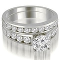 2.15 cttw. 14K White Gold Classic Channel Set Round Cut Diamond Bridal Set - Thumbnail 0
