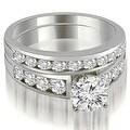2.65 cttw. 14K White Gold Classic Channel Set Round Cut Diamond Bridal Set - Thumbnail 0