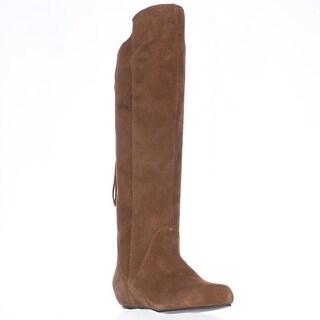 STEVEN by Steve Madden Laurren Hidden Wedge Tassel Boots - Cognac