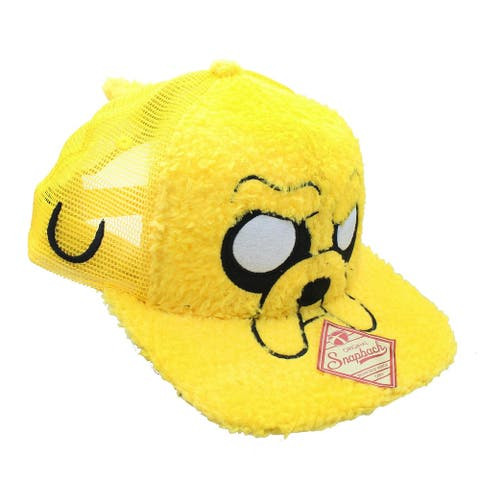 Adventure Time Jake Furry Snapback Hat - Yellow