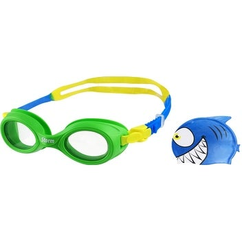 Storm Lil Swimmer Swim Cap and Goggles Set