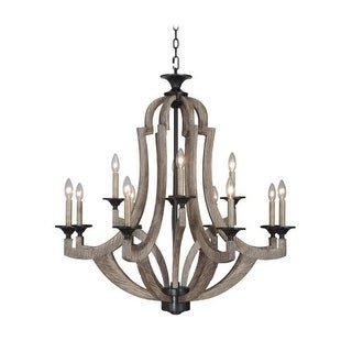 Jeremiah Lighting 35112 Winton Two Tier 12 Light Candle Style Chandelier - 36 Inches Wide