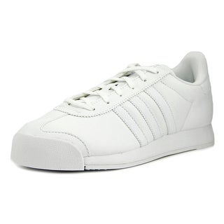 Adidas Samoa J Youth Round Toe Leather White Sneakers