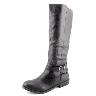 Style & Co Madixe Women  Round Toe Synthetic Black Knee High Boot