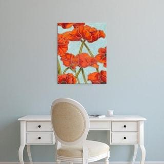 Easy Art Prints Karen Deans's 'Poppy Talk II' Premium Canvas Art