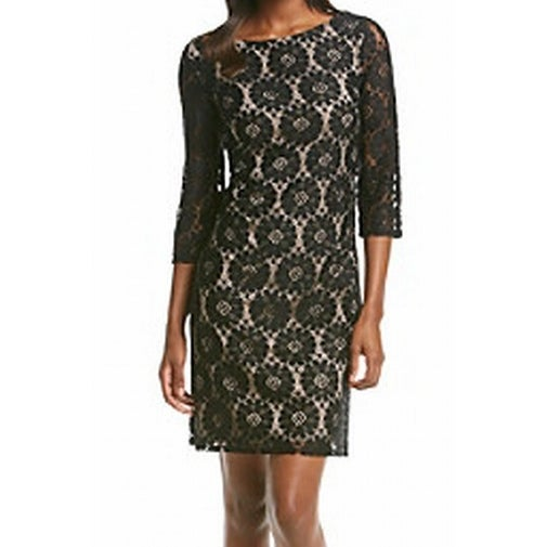 5219352677f7 Shop Jessica Howard NEW Black Women's Size 14 Circle Lace Sheath Dress - Free  Shipping On Orders Over $45 - Overstock - 18351609