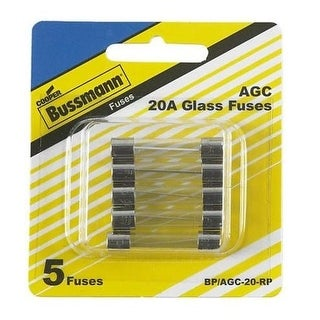 Bussmann BP/AGC-20-RP Glass Auto Tube Fuse, 20 Amp