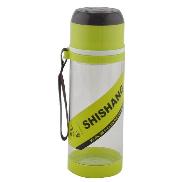 Camping Plastic Detachable Tea Strainer Sport Water Bottle Cup Mug Green 630ML