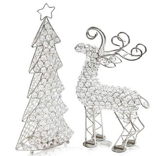"Link to HomeRoots 3.5"" x 8"" x 16"" Silver/Crystal - Christmas Tree Similar Items in Christmas Decorations"