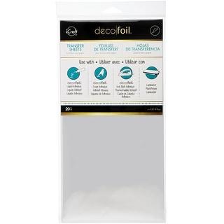 "Deco Foil Transfer Sheet 6""X12"" 20/Pkg-Silver"
