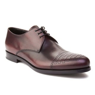 Prada Men's Leather Oxford Dress Shoes Maroon