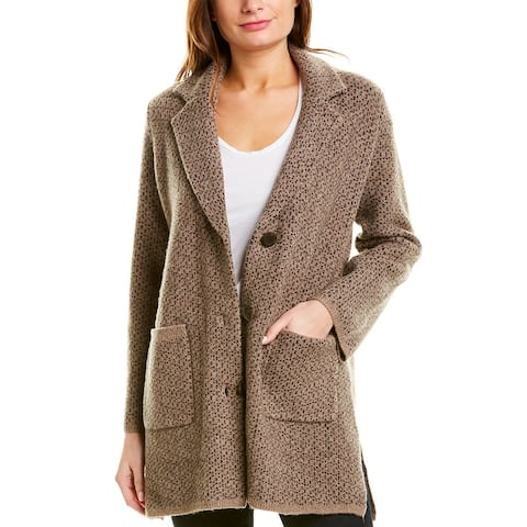 Madewell Birdseye Wool-Blend Sweater Coat - SU3409-HEATHER CEDAR
