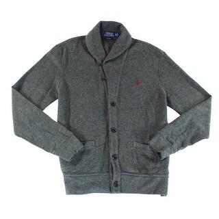 Polo Ralph Lauren NEW Gray Mens Small S Shaw-Collar Cardigan Sweater