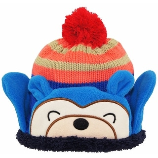 Wippette Baby Boys Winter Polar Teddy Bear Sweater Sherpa Lined Combo Hat 12-24M - infant