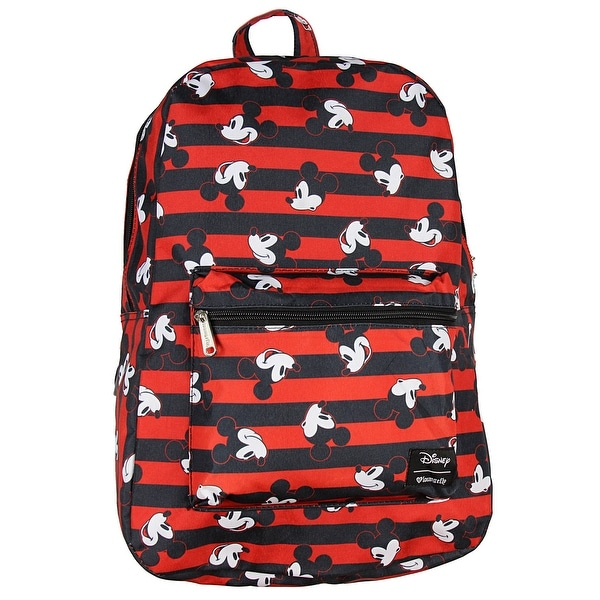 cb859429d17 Shop Disney Mickey Mouse Backpack Stripes Print - One Size Fits Most ...