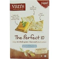 Van's Natural Foods - Gluten Free Perfect 10 Crackers ( 6 - 4 OZ)