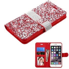 Insten Folio Flip Rhinestone Diamond Bling Leather Wallet Flap Pouch Case Cover For Apple iPhone 6 Plus/ 6s Plus